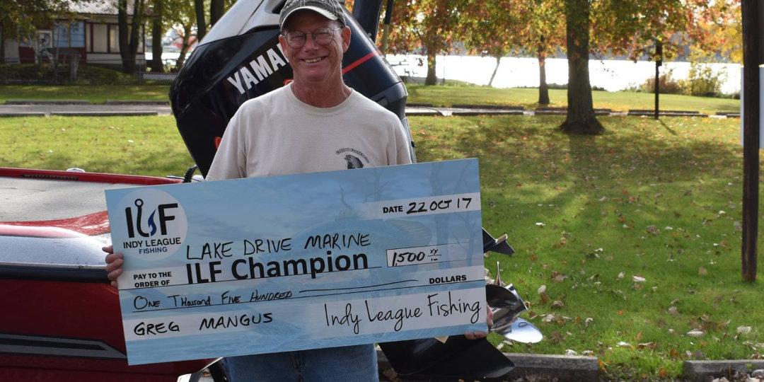 ILF Angler Greg Mangus 2017 Lake Drive Marine Invitational Champion